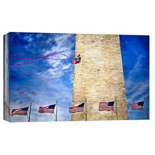 "PTM Images 9-101706  PTM Canvas Collection 8"" x 10"" - ""Dancing on the Wind"" Giclee Washington Monument Art Print on Canvas"