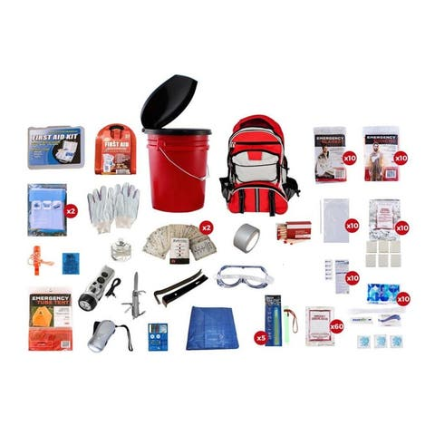 10 Person Survival Kit 72 plus Hours - Red