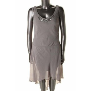 SL Fashions Womens Chiffon Sleeveless Dress With Jacket - 6