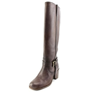 Frye Malorie Knotted Tall Round Toe Leather Knee High Boot