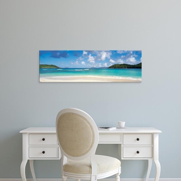 Easy Art Prints Panoramic Images's 'Hawksnest Bay Virgin Islands National Park St. John US Virgin Islands' Canvas Art