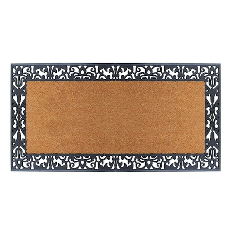 """A1HC Rubber and Coir Heavy Duty, Extra Large Size Doormat,30"""" X 60"""""""