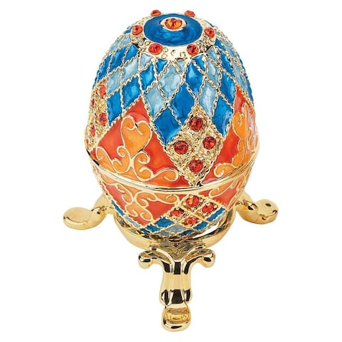 Design Toscano Grand Duchess Collection Enameled Egg: Georgievna