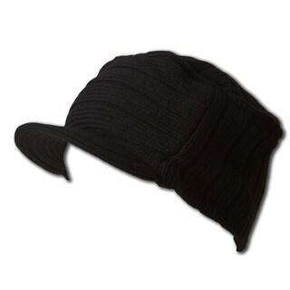 TopHeadwear Cadet Design Beanie Visor Cap
