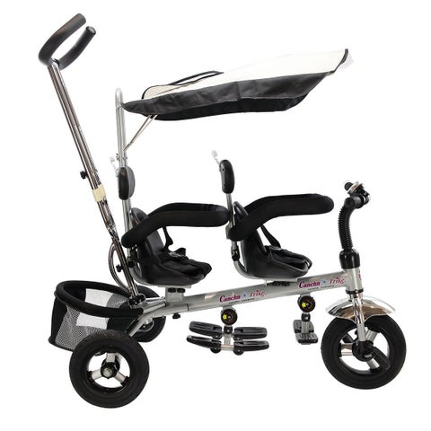 Gymax 4 In 1 Twins Kids Baby Stroller Double Rotatable Seat