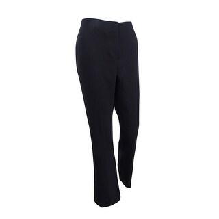 Alfani Women's Mid-Rise Stretch Trousers - Deep Black