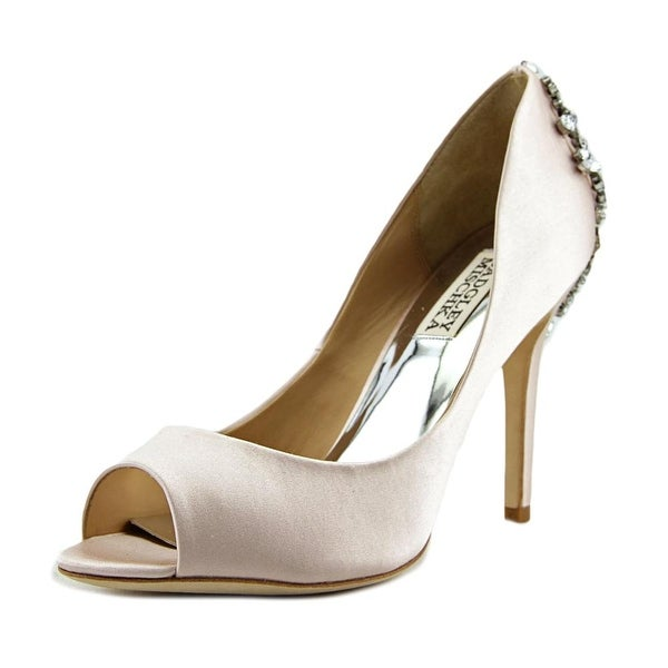 18a2f4436eb Shop Badgley Mischka Nilla Women Open-Toe Canvas Pink Heels - Free ...
