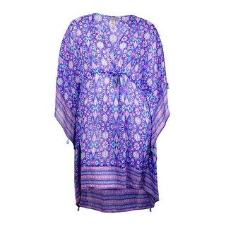 Bleu Rod Beattie Women's Printed Sheer Coverup - Mint Multi