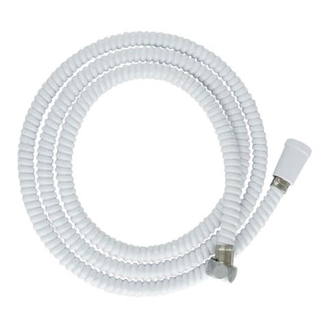 "LDR 520 2400W Replacement Flexible 72"" Handheld Shower Hose, White"