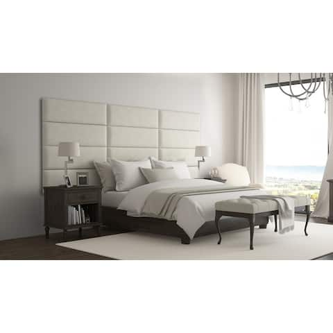 Vant Upholstered Wall Panels (Headboards) Sets of 4 - Micro Suede Neutral Sand - 39 Inch - Twin-King.