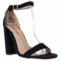 Zigi Soho Loise Ankle Strap Block Heel Sandals, Black