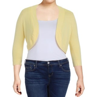 Jessica Howard Womens Cardigan Sweater Knit 3/4 Sleeves