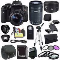Canon EOS Rebel T6i DSLR Camera with EF-S 18-55mm f/3.5-5.6 IS STM Lens 0591C003 + EF-S 55-250mm F4-5.6 Lens + Saver Bundle