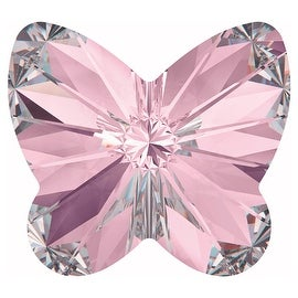 Swarovski Crystal, 4748 Rivoli Butterfly Rhinestones 10mm, 4 Pieces, Light Amethyst F