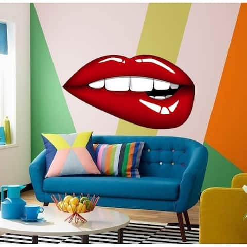 Sexy Red lips Wall Decal, Red lips Wall sticker, Red lips wall decor, Red lips Wall Art