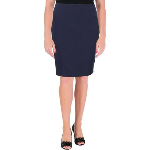 Le Suit Womens Nantucket Pencil Skirt Pinstripe Office