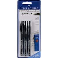 Pitt Calligraphy Pens 2.5mm Chisel Tip 3/Pkg-Black - Black