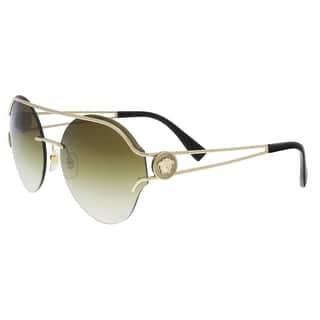 8f77df9687 Versace VE2184 12526U Pale Gold Round Sunglasses - 61-17-140