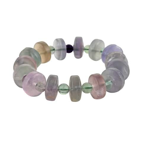 Shop LC Women Stretch Bracelet Fluorite Beaded Jewelry Gift Ct 30