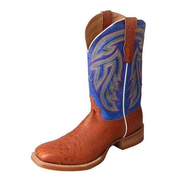 Twisted X Western Boots Mens Rancher Silver Buckle Brandy