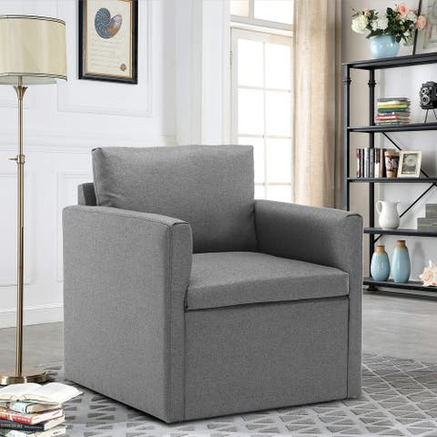 Moda Modern Comfy Reading Upholstered Single Sofa Armchair