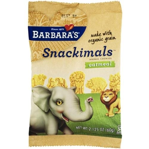 Barbara's Bakery - Organic Oatmeal Snackimals Cookies ( 18 - 2.125Z)