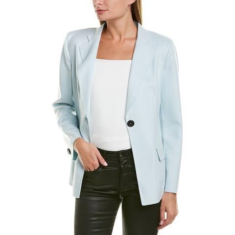 Giorgio Armani Notch Lapel Cashmere Silk-Lined Blazer