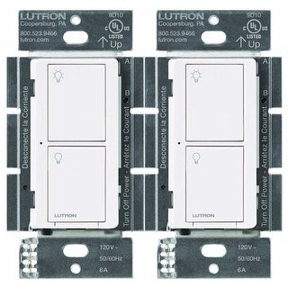 Lutron Caseta Wireless Smart Lighting Switch (White) (2-Pack) - White