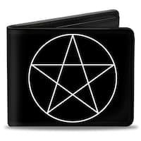 Supernatural Pentagram Black White Bi Fold Wallet - One Size Fits most