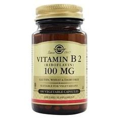 Solgar Vitamin B2 (Riboflavin) 100 mg (100 Veggie Capsules)