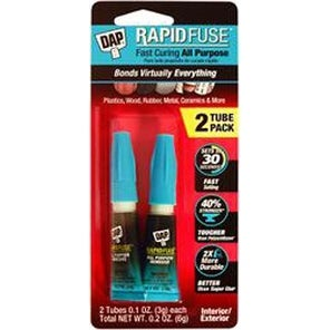.1Oz - Dap Rapid Fuse All Purpose Glue Twin Pack