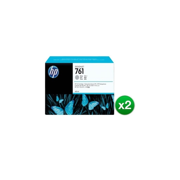 HP 761 400-ml Gray DesignJet Ink Cartridge (CM995A)(2-Pack)