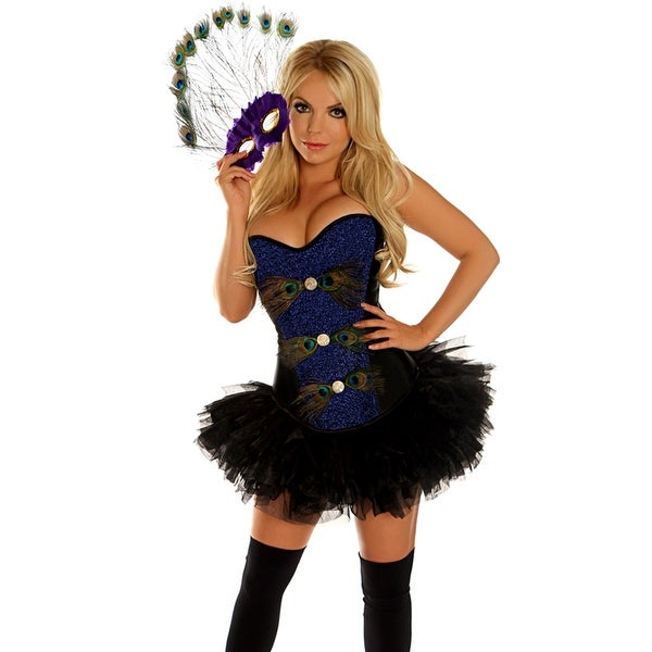 f0ae3fb9a4 Shop Peacock Masquerade Corset Costume - Ships To Canada - Overstock ...