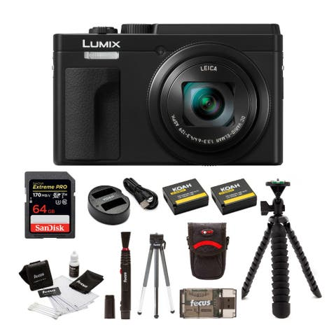 Panasonic LUMIX ZS80 24-720mm Camera (Black) Bundle