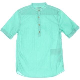 Zara Boys Cotton Henley Shirt - 11/12