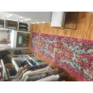 nuLOOM Distressed Abstract Vintage Oriental Multi Runner Rug (2'6 x 12')