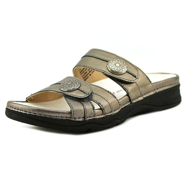 Barefoot Freedom by Drew ARIANA Women N/S Open Toe Leather Gray Slides Sandal