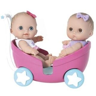 JC TOYS 16982 8.5 in. Lil Cutesies Twins Doll in Stroller