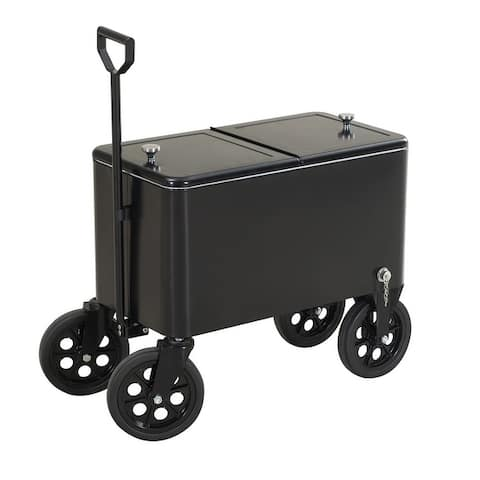Sunjoy Audrey 60 Quart Black Cooler Sunjoy Audrey 60 Quart Black Cooler Cart
