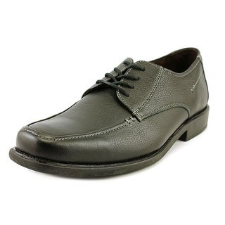 Johnston & Murphy Macomb Moc Lac Men Round Toe Leather Black Oxford