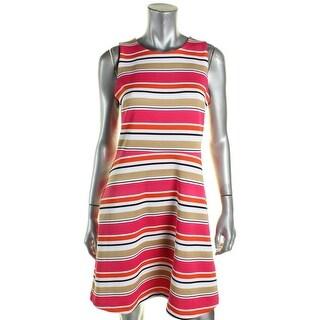 MICHAEL Michael Kors Womens Wear to Work Dress Crew Neck Striped