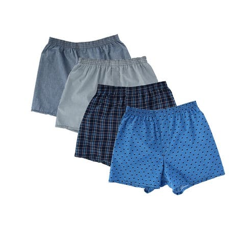 Fruit of the Loom Men's Big and Tall Woven Boxer Underwear (4 Pack)