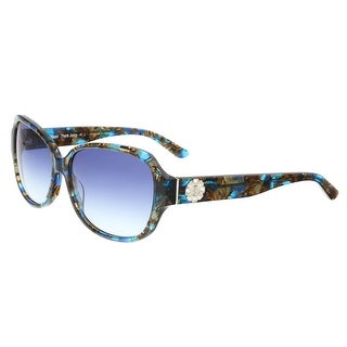 Juicy Couture - Juicy 591/S 0S9W Blue Brown Rectangle Sunglasses - 58-15-135
