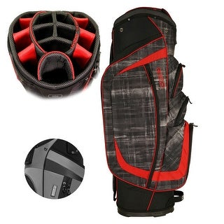 OGIO Men's 2017 Shredder Golf Cart Bag - paranormal/red