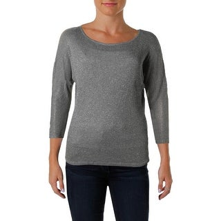 Michael Stars Womens Pullover Top Metallic Off The Shoulder - o/s