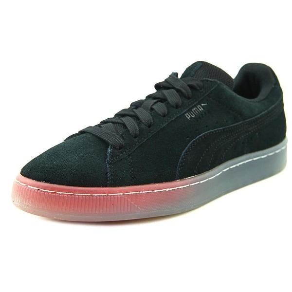 Puma Suede Classic ManeetVesperum Men Round Toe Suede Black Sneakers