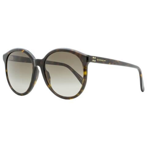 Givenchy GV7107S 086HA Womens Dark Havana 56 mm Sunglasses - Dark Havana
