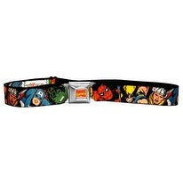 Marvel Comics Avengers Faces Seatbelt Belt-Holds Pants Up