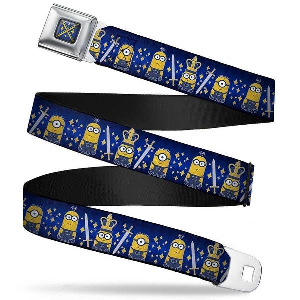 Royal British Invasion Swords Full Color Blue Yellow Royal British Invasion Seatbelt Belt