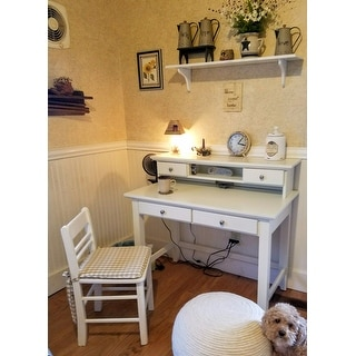 Home Styles Naples White Student Desk And Hutch Free